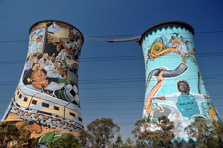 Street art in Soweto, near Johannesburg South Africa