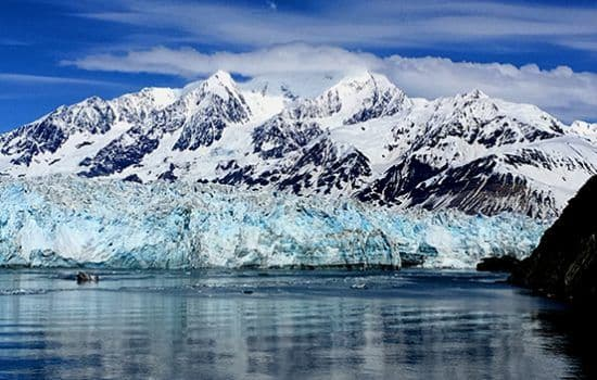 The spectacular Hubbard Glacier in Alaska