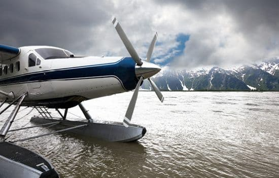 Floatplane departing for glacier watching