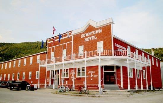 Wooden building in Dawson City, the Yukon