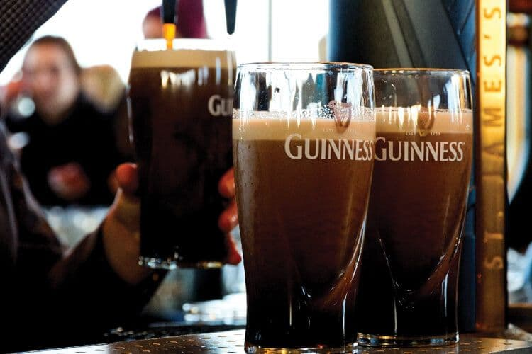 Enjoy a Guinness, during a Scotland and Ireland tour