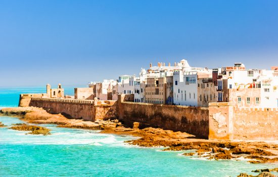 The coast of Essaouira in Morocco