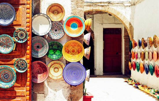 Colourful plates in Morocco