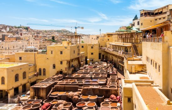 The tanneries in Fez, Morocco