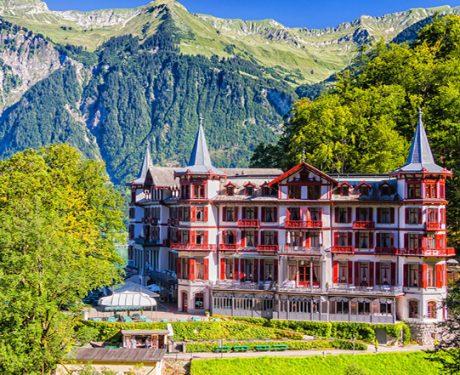 Elevated hotel in Switzerland
