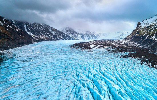 Skaftafell glacier, Vatnajokull National Park in Iceland