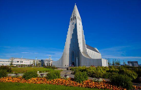 Hallgrimskirkja cathedral in Iceland
