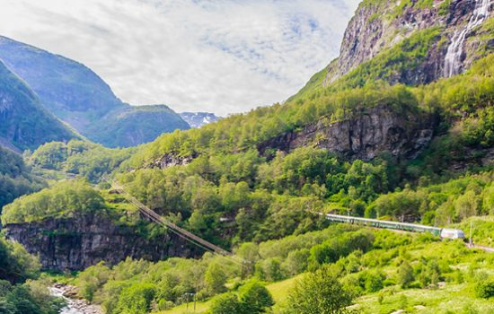 Flam Railyway from Flam to Oslo, Norway