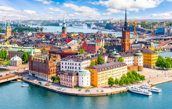 Birdseye view of Stockholm Sweden