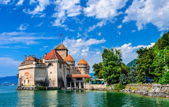 hateau de Chillon in Montreux on Lake Geneva