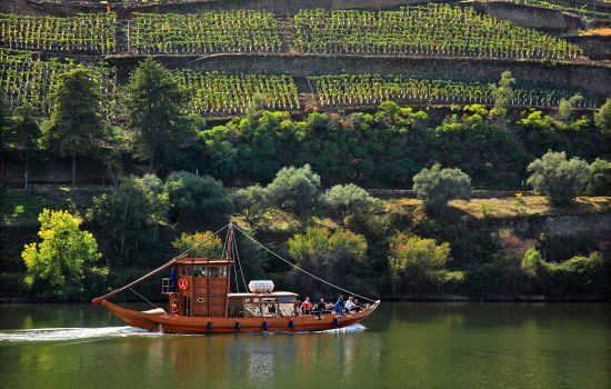 Douro River in a traditional Rabelo