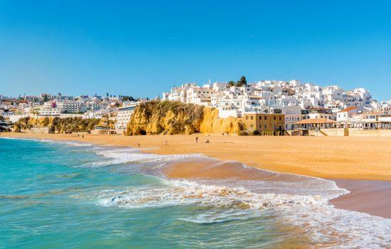 white city of Albufeira, Algarve, Portugal